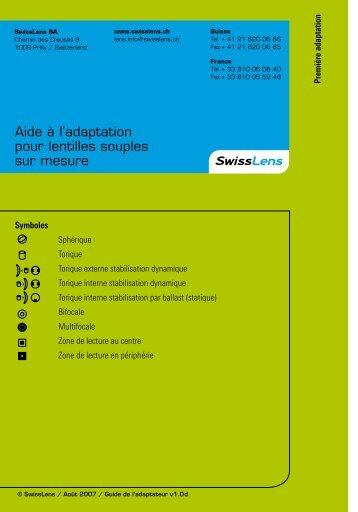 Aide à l'adaptation pour lentilles souples sur mesure - SwissLens