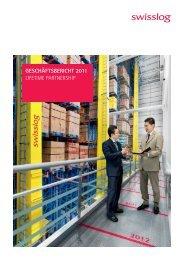Geschäfts bericht 2011 Lifetime PartnershiP - Swisslog