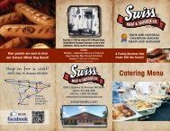 Download our Catering Brochure - Swiss Meat & Sausage Co.