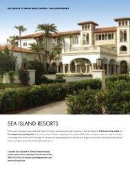 SEA ISLAND RESORTS - Elite Traveler