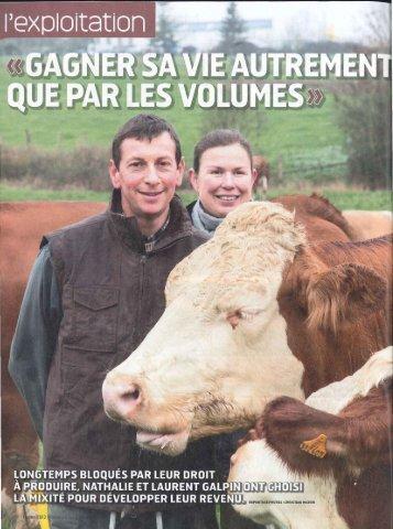 """""""Gagner sa vie autrement que par les volumes"""" (PDF ... - Swissmilk"""