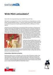 Wirkt Milch antioxidativ? - Swissmilk