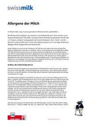 Allergene der Milch - Swissmilk