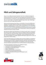 Milch und Zahngesundheit - Swissmilk