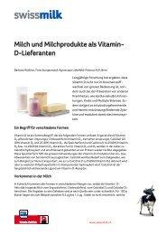 Milch und Milchprodukte als Vitamin- D-Lieferanten - Swissmilk