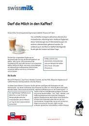 Darf die Milch in den Kaffee? - Swissmilk