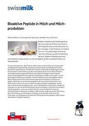 Bioaktive Peptide in Milch und Milch- produkten - Swissmilk