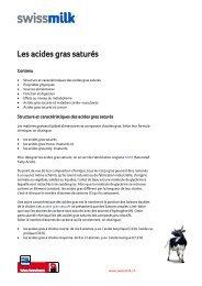 Les acides gras saturés - Swissmilk