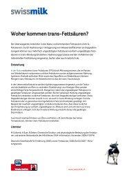 Woher kommen trans-Fettsäuren? - Swissmilk