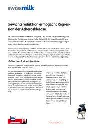 Gewichtsreduktion ermöglicht Regres- sion der ... - Swissmilk