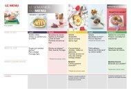 Vous mangez sainement avec recettes et semainier de ... - Swissmilk