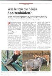 Was leisten die neuen Spaltenböden? (PDF, 1.1 MB) - Swissmilk