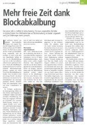 Mehr freie Zeit dank B lockabka I bung - Swissmilk