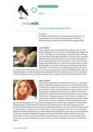 Lesen und Verstehen: Essgewohnheiten (PDF, 660 KB) - Swissmilk