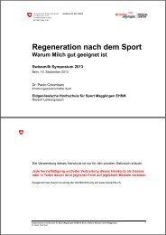 257 - Regeneration nach dem Sport: Warum Milch gut ... - Swissmilk