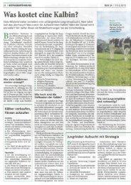 Was kostet eine Kalbin? (PDF, 1.6 MB) - Swissmilk