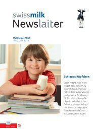 Multitalent Milch: Schlaues Köpfchen (PDF, 2.5 MB) - Swissmilk