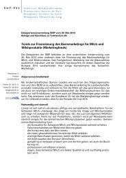 Beitrag Basismarketing Schweizer Milch und ... - Swissmilk