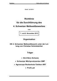 Richtlinien zum 4. Melkwettbewerb, aktualisiert Juli 2013 - Swissmilk
