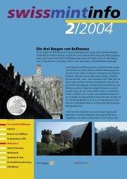 2004/2 Die drei Burgen von Bellinzona (PDF, 540Kb) - Swissmint