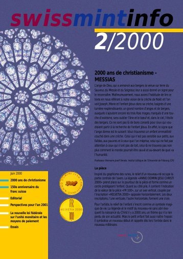 2000 ans de christianisme - MESSIAS (PDF, 780Kb) - Swissmint