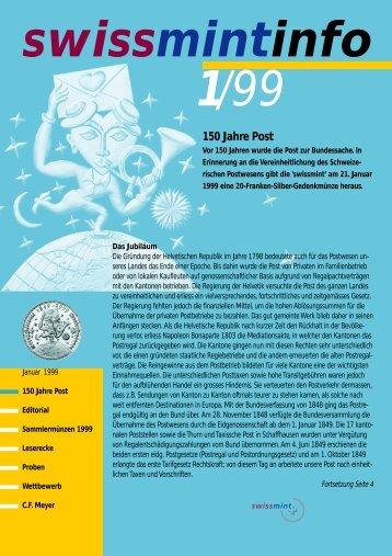 1999/1 150 Jahre Post (PDF, 570Kb) - Swissmint