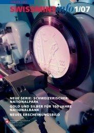 2007/1 neue Serie: Schweizerischer Nationalpark (PDF ... - Swissmint