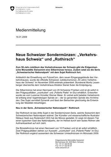 Rothirsch - Swissmint