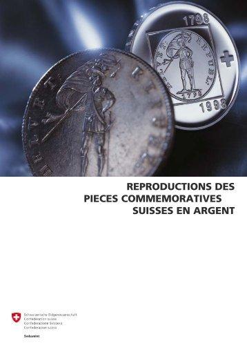 reproductions des pieces commemoratives suisses en ... - Swissmint