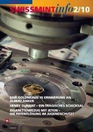2010/2 Henry Dunant - ein tragisches Schicksal (PDF ... - Swissmint