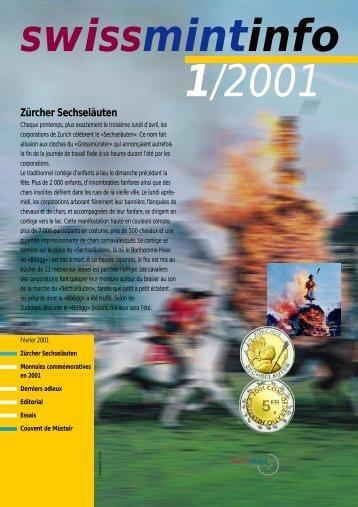 2001/1 - Zürcher Sechseläuten (PDF, 526Kb) - Swissmint