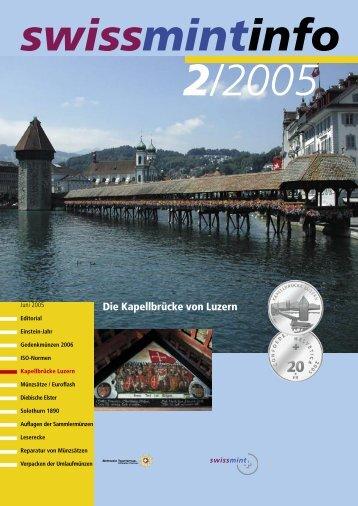 2005/2 Die Kapellbrücke von Luzern (PDF, 450Kb) - Swissmint