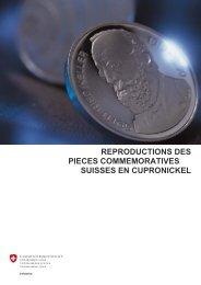 Reproductions des pièces commémoratives suisses en ... - Swissmint
