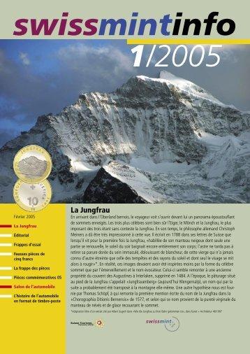 2005/1 - La Jungfrau (PDF, 350Kb) - Swissmint