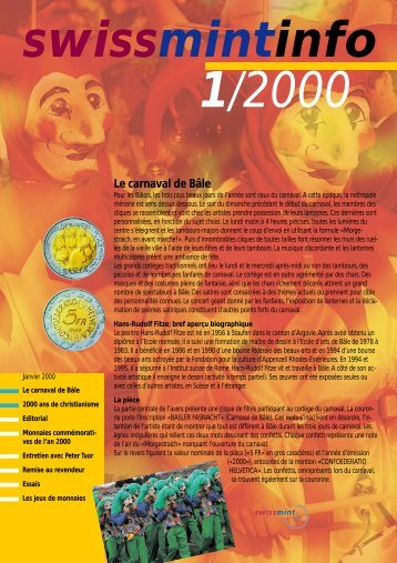 2000/1 - Le carnaval de Bâle (PDF, 320Kb) - Swissmint