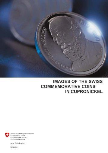 images of the swiss commemorative coins in cupronickel - Swissmint