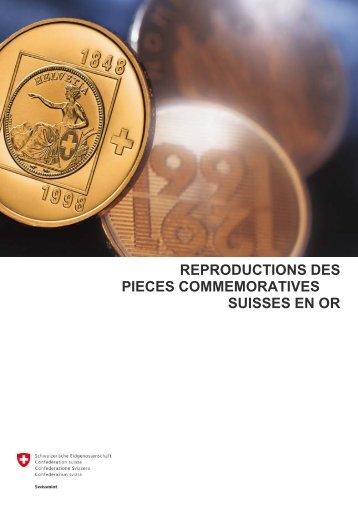 reproductions des pieces commemoratives suisses en or - Swissmint