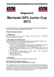Règlement Moriwaki GP3 Junior Cup 2013 - FMS