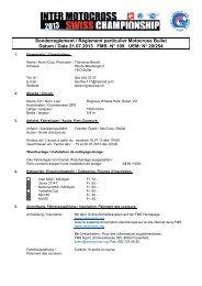 Sonderreglement Règlement particulier Motocross Bullet ... - FMS