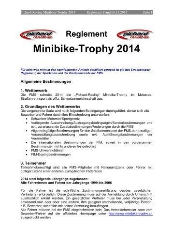 Reglement Pichard Racing Minibike-Trophy 2014 - FMS