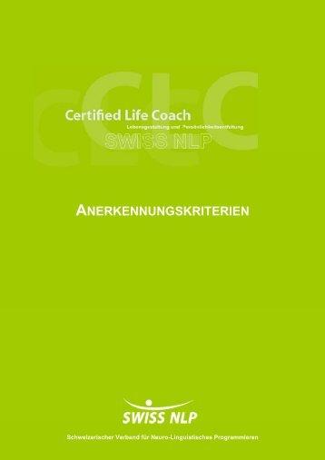 ANERKENNUNGSKRITERIEN - SWISS NLP