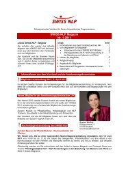 SWISS NLP Magazin Nr. 1 2011