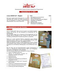 Newsletter Nr. 4 / 2007 - Swiss NLP