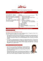 SWISS NLP Magazin Nr. 3 2010