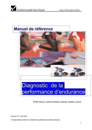 Diagnostic de la performance d'endurance - Swiss Olympic