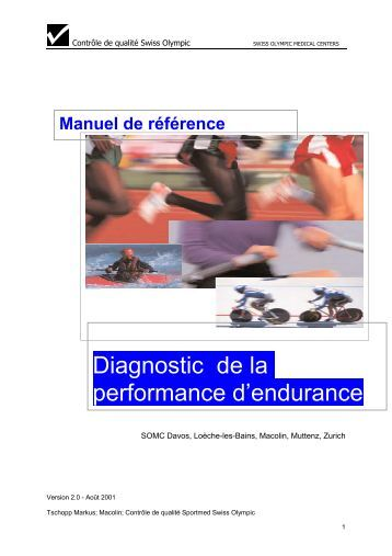 Diagnostic de la performance d'endurance - Swiss Olympic