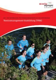 Vereinsmanagement-Ausbildung (VMA) - Swiss Olympic