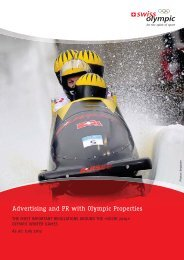 Advertising and PR with Olympic Properties - Swiss Olympic