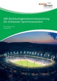 GRI-Nachhaltigkeitsberichterstattung für Schweizer Sportveranstalter