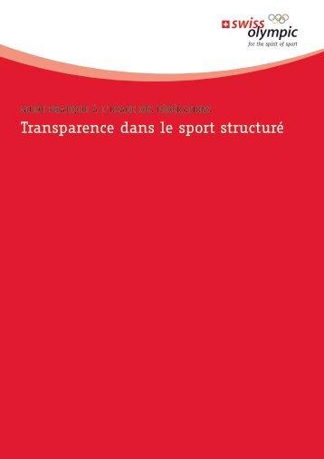 transparence dans le sport structuré - Swiss Olympic